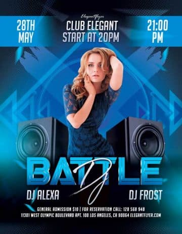DJ Battle Party Free Flyer Template