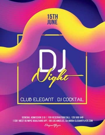 DJ Night Free Flyer Template