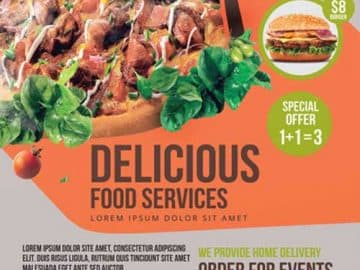 Delicious Food Free Flyer PSD Template