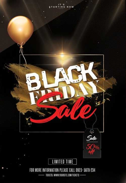 Free Black Friday Sale Flyer PSD Template