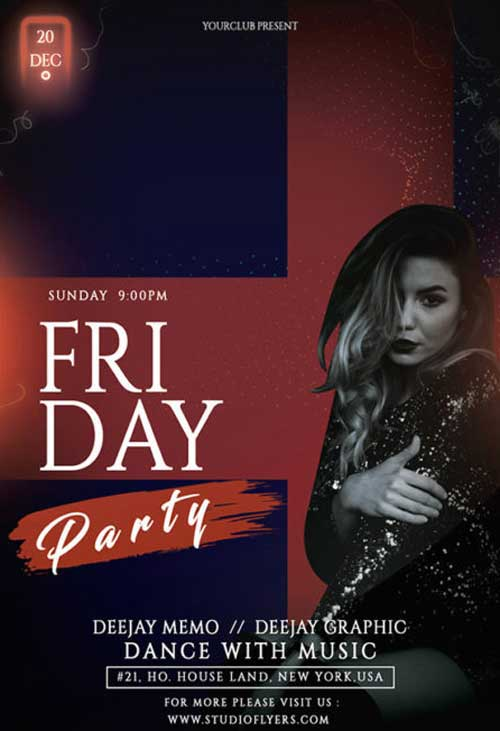 Friday Girls Night Free Flyer Template