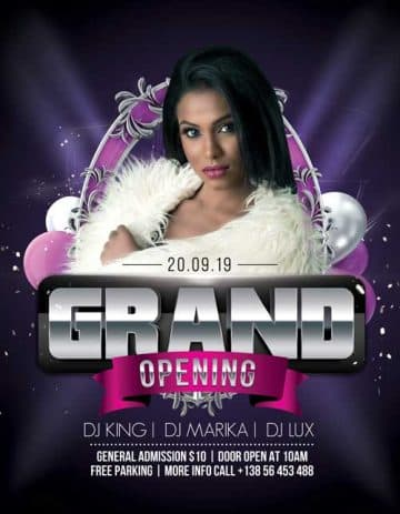 Grand Opening Night Free Flyer Template