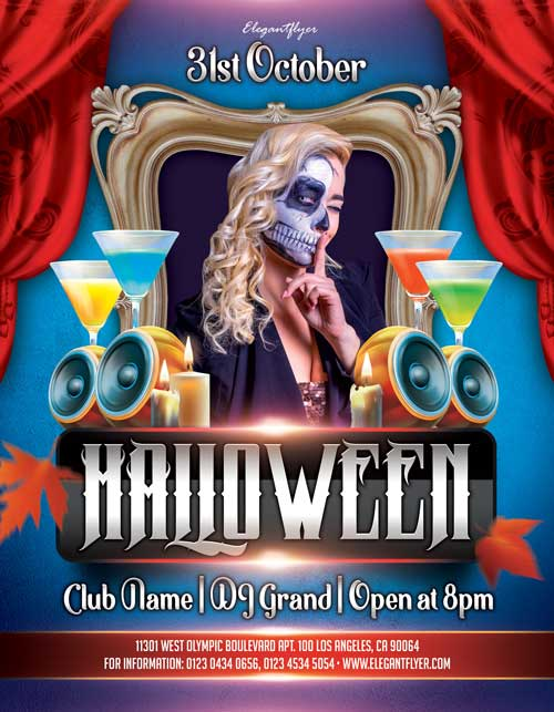 Halloween Night Club Party Free Flyer Template