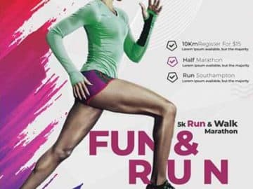 Marathon Sports Event Free Flyer Template