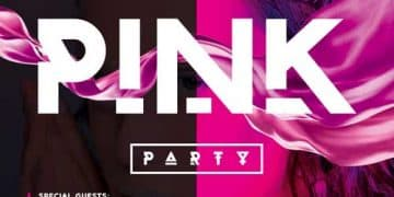 Pink Color Party Night Free Flyer Template