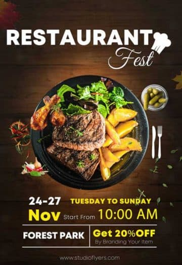 Restaurant Fest Free Flyer Template