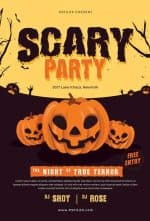 Scary Party Free Halloween Flyer Template