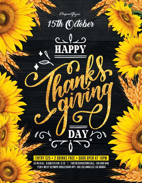 Thanksgiving Day Party Free Flyer Template