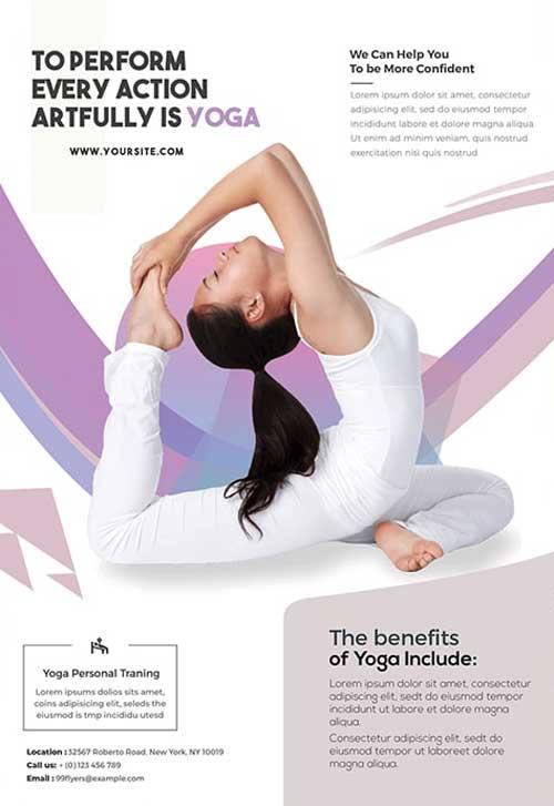 Yoga Class Free Flyer Template Download Freepsdflyer