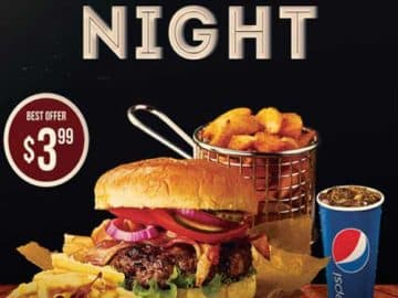 Burger Night Free Flyer Template