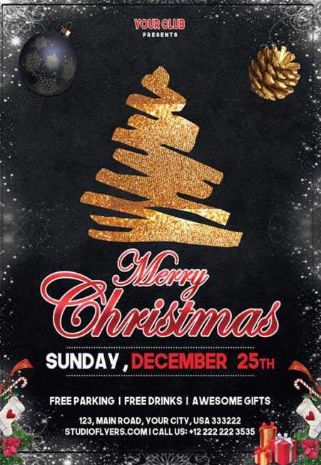 Christmas Event Free Flyer Template
