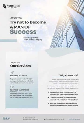 Clean Corporate Free Flyer Template