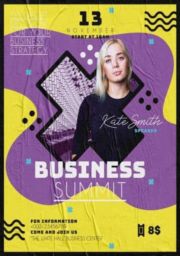 Free Business Summit Event Flyer Template
