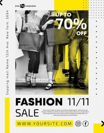 Free Fashion Sale Event PSD Flyer Template