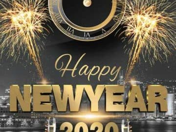 Happy 2020 New Years Party Free Flyer Template