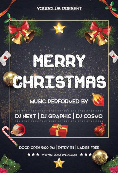 Merry Christmas Night Free Flyer Template