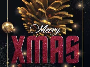 Merry X-Mas Party Night Free Flyer Template