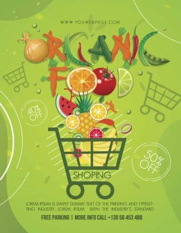 Organic Food Shop Free PSD Flyer Template