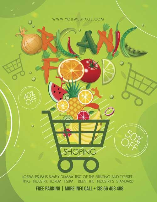 Organic Food Shop Free PSD Flyer Template