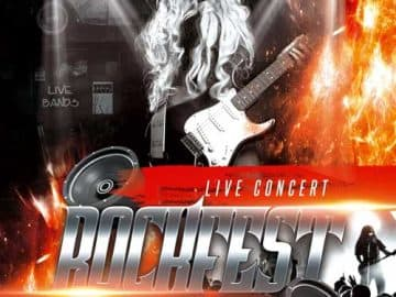 Rock Fest Free PSD Flyer Template