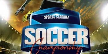 Soccer Championship Free Flyer Template
