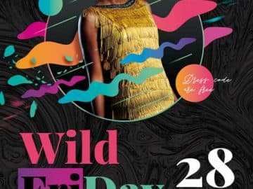 Wild Friday Party Free Flyer Template