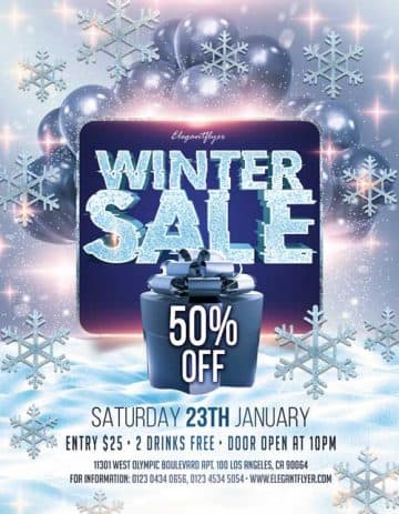 Winter Sale Free Flyer Template