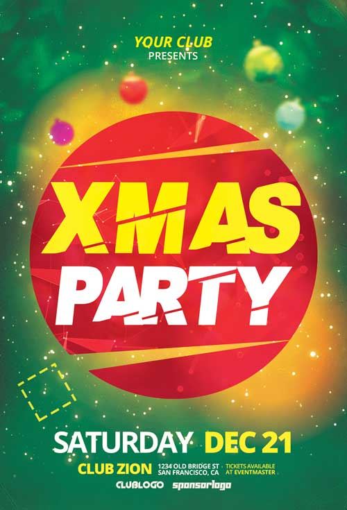 X-Mas Party Free Club Flyer Template