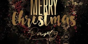 X-Mas Party Free Flyer Template