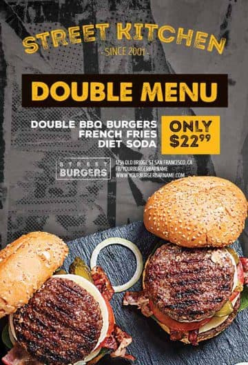 Burger Kitchen Free Flyer Template