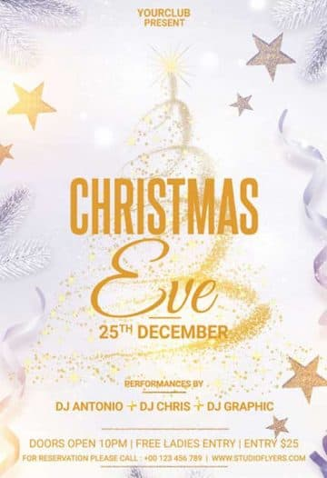 Christmas Eve Party Free Flyer Template
