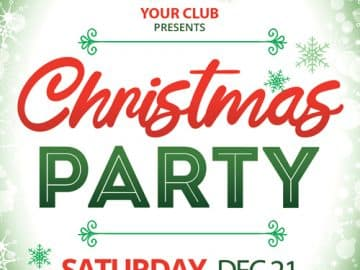 Christmas Party Event Free Flyer Template