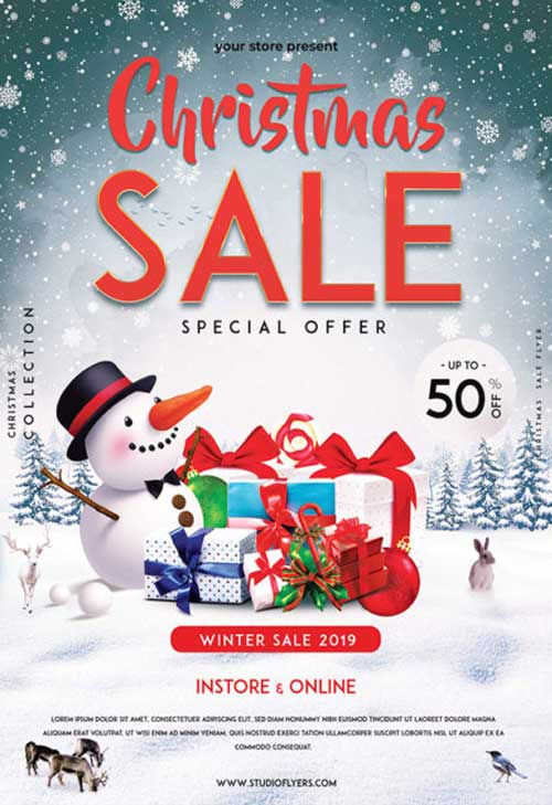 Christmas Sale Free Flyer Template