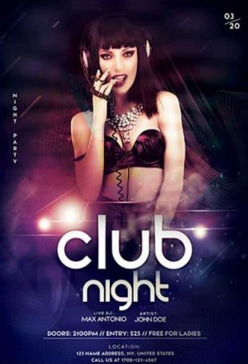 Club DJ Artist Event Free Flyer Template