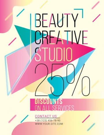 Free Beauty Studio Flyer Template