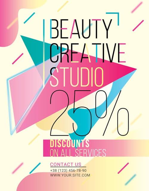 Free Beauty Studio Flyer Template
