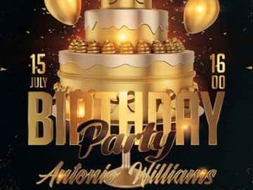 Free Birthday Night Party PSD Flyer Template