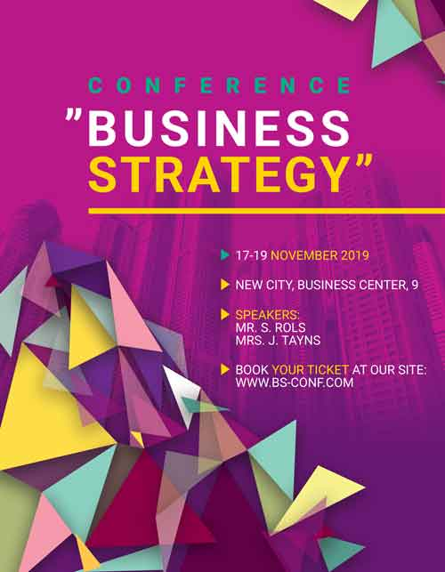 Free Business Strategy Event Flyer Template