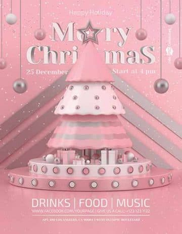 Free Christmas Party Event Flyer Template