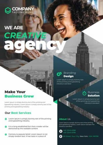 Free Creative Agency Flyer Template