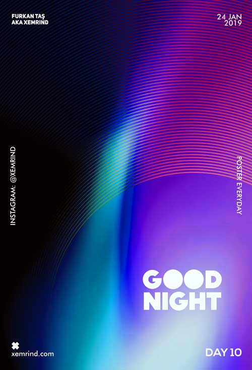 Free Electro Music Night Party Flyer Template