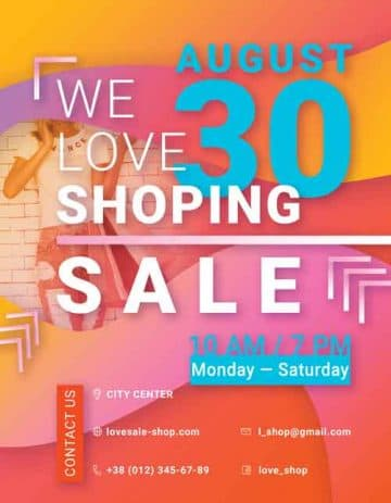Free Shop Sale PSD Flyer Template