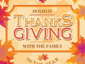 Free Thanksgiving Holiday Flyer Template