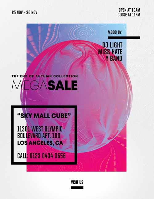 Free Weekend Sale PSD Flyer Template