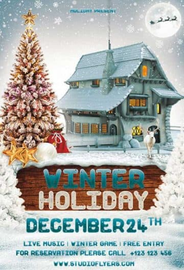 Free Winter Holiday Flyer Template