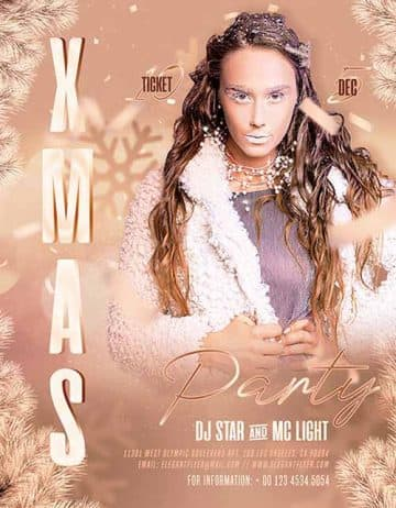Free X-Mas Party Event Flyer Template