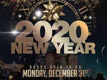 Happy New Years Eve 2020 Free Flyer Template
