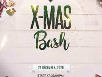 X-Mas Bash Celebration Free Flyer Template