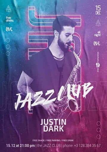 New Jazz Night Free PSD Flyer Template