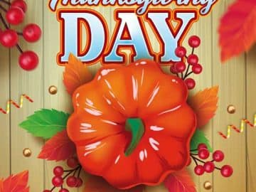 Thanksgiving Day Free Flyer Template